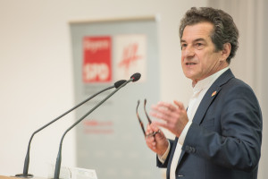 Klaus Barthel bei seinem Rechenschaftsbericht