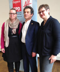 Christiane Kern, Klaus Barthel und Leni Breymaier (v.l.)